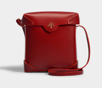 Handtasche Pristine aus pflanzlichem Kalbsleder in Rot