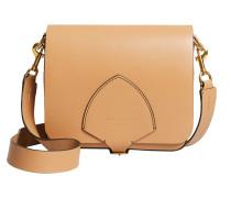The Square Satchel Tasche aus camelfarbenem geschmeidigem Leder