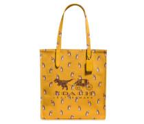 Rexy und Carriage Tote Bag aus gelbem Canvas