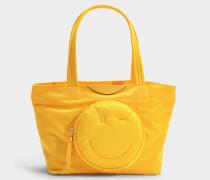 Mini Shopper Chubby Wink aus Nylon in Gelb