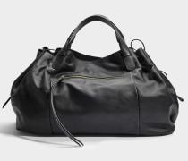 Maxi GD Tasche aus schwarzem Kalbsleder