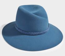 Hut Virginie aus Filz in der Farbe Blau