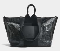 AW Logo Tote Tasche aus schwarzem PVC