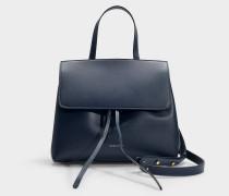 Handtasche Mini Lady aus blauem Kalbsleder