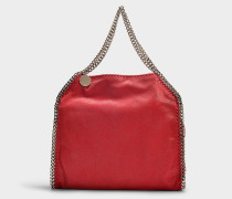 Kleiner Shopper Falabella Tote Shaggy Deer aus Synthetikmaterial in Rot