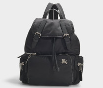 Rucksack The Rucksack Medium aus schwarzem Nylon