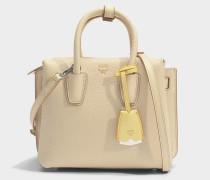 Milla Mini Tote Bag aus Latte beigem Park Avenue Leder