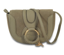 See by Chloé Hana Mini Crossbody Tasche aus Safari Khaki Ziegenleder