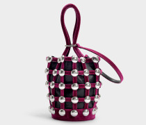 Mini Bucket Bag Roxy Cage aus Baumwolle in Magenta