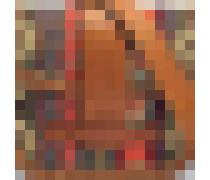 Gemma Crossbody Tasche aus rubyrotem und Fawn Kuhleder, Baumwolle und Polyamide