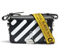Diag Mini Flap Tasche aus schwarzem Leder