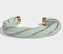 Diana Twisted Bracelet in Babyblau und aus 18K vergoldetem Messing
