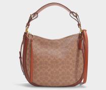 Tasche Sutton Hobo Bag aus gewachstem Stoff