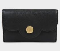 See by Chloé Polia Geldbörse aus schwarzem Kalbsleder