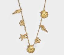 Tribute Trésor De La Mer Halskette aus goldfarbenem Metall