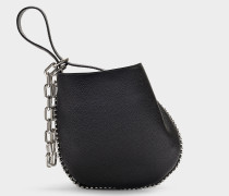 Mini Umhängetasche Hobo Roxy aus schwarzem Kalbsleder