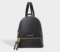 Rhea Zip Medium Backpack aus schwarzem Soft Venus