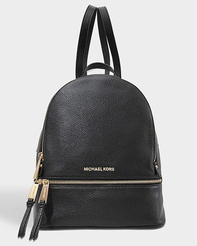 Rhea Zip Medium Backpack aus schwarzem Soft Venus