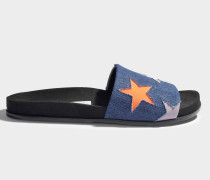 Mule Schuhe mit Stars aus navyblauem, peachfarbenem und Lilac Baumwolle