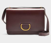 Medium D-ring Tasche aus rotem Ziegenleder