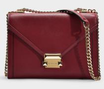Whitney Large Shoulder Bag in Red Calfskin