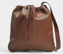 Havane Tasche aus Cad Noisette glattem Kalbsleder
