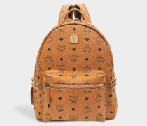 Stark Side Studs Small Backpack in Cognac sandfarben