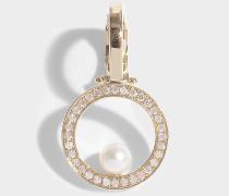 Mini Reine ear cuff Mono-Ohrring aus 14 Karat Gold und Diamanten