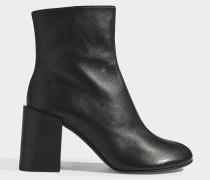 Saul Logo ankle boots aus schwarzem Lammleder