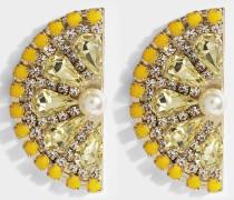 Lemon Slice Ohrringe aus gelbem und goldfarbenem Metall