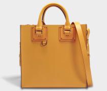 Square Albion Tote Bag aus butterfarbenem Kuhleder