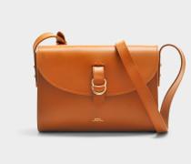 Alicia Tasche aus Caf karamelfarbenem glänzend Kalbsleder