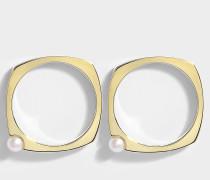 ARO ESCONDIDA 9-KARAT GOLD AND PEARL EARRINGS