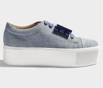 Denim Sneaker mit Plateau Drihanna