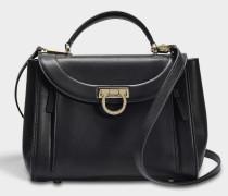 Sofia Rainbow Small Bag aus schwarzem Saddle Soft Leder
