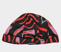 Lipstick Headband aus schwarzer Seide