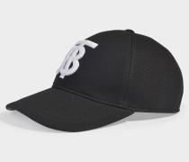 Baseballkappe aus schwarzer Baumwolle