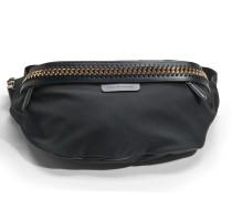 Öko Nylon Falabella Go Bum Tasche aus schwarzem Öko Leder