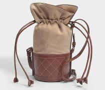 Sully Mini Tasche aus Leinen Ziegenleder und Kalbsleder