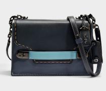 Swagger Chain Crossbody Tasche aus schwarzem Kalbsleder