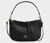 Chelsea Crossbody Tasche aus schwarzem Kalbsleder