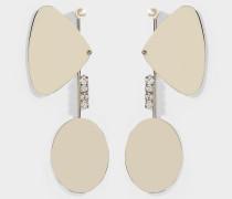 Ohrringe Ergo aus goldenem Messing und Kristallen
