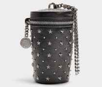 Mini Handtasche Star aus schwarzem Kalbsleder