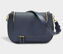 Vere Soft Satchel Tasche aus navyblauem Leder