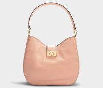 Handtasche Raya Greenwood Place aus rosa Kalbsleder