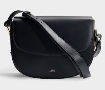 Handtasche Odette aus schwarzem Kalbsleder