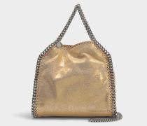 Mini Shopper Falabella Shiny Dotted Chamois aus goldenem Synthetikmaterial