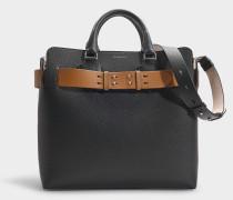 The Medium Belt Bag in Black Calfskin