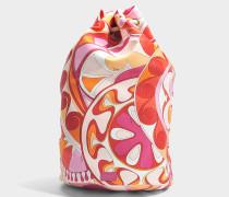 Capri Bucket Backpack in orange aus Nylon