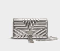 Kleine Handtasche mit Taschenklappe Stella Star Metallic